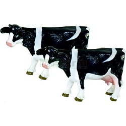 Black and White Cows (Pack of 2) - Die cast miniatures from SIKU (Siku 1447)