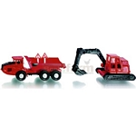 Articulated Haulier And Excavator Twin Pack - Die cast miniatures from SIKU  (SIKU 1648)
