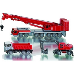 Construction Site Set with Liebherr Crane - Super Series from SIKU - 1:87 Scale (SIKU 1814)