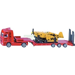 Mercedes Benz Low Loader with Sporting Airoplane - Super Series from SIKU - 1:87 Scale (SIKU 1866)