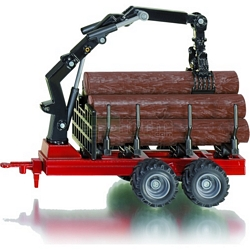 Forestry Trailer with Logs - Farmer Series from SIKU - 1:50 scale (SIKU 1968)