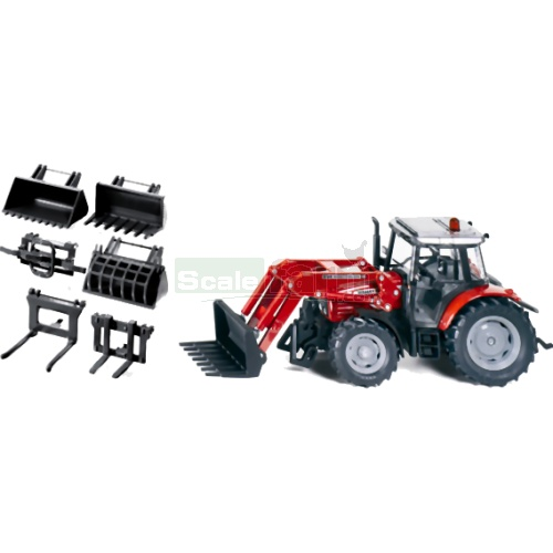 Massey Ferguson 894 Tractor with Front Loader Set (SIKU 3693)