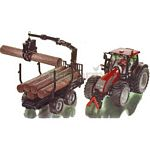 Valtra T191 Tractor With Forestry Trailer - Farmer Classic Series from SIKU - 1:32 scale  (SIKU 3869)