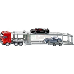 Mercedes Benz Actros Transporter with 2 sports cars - Super Series from SIKU - 1:50 Scale (SIKU 3934)