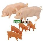Large White Pigs - Farmyard Accessories from Britains - 1:32 scale  (Britains 40966)