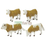 Simmental Cattle - Farmyard Accessories from Britains - 1:32 scale  (Britains 42351)