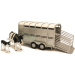 Cattle Trailer with Two Cows - Big Farm - Big Farm from Britains - 1:16 scale  (Britains 42709)