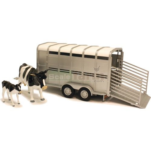 Cattle Trailer with Two Cows - Big Farm (Britains 42709)