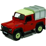Land Rover Defender 90 with Canopy (Red)