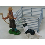 Shepherd and Sheep Hurdle Set - Farmyard Accessories from Britains - 1:32 scale  (Britains 42736)