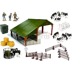 Farm Building and Accessories Set - Authentic Farm Model from Britains - 1:32 scale (Britains 42786)