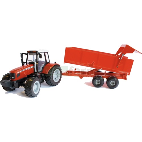 Massey Ferguson 6480 Tractor and Tipping Trailer - Big Farm (Britains 42789)