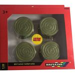 Round Green Bales (Pack of 4) - Farmyard Accessories from Britains - 1:32 scale  (Britains 42834)