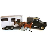 Land Rover Defender and Horse Trailer Set - Big Farm - Big Farm from Britains - 1:16 scale  (Britains 42835)
