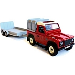 Land Rover Defender and General Purpose Trailer Set - Big Farm - Big Farm from Britains - 1:16 scale  (Britains 42836)