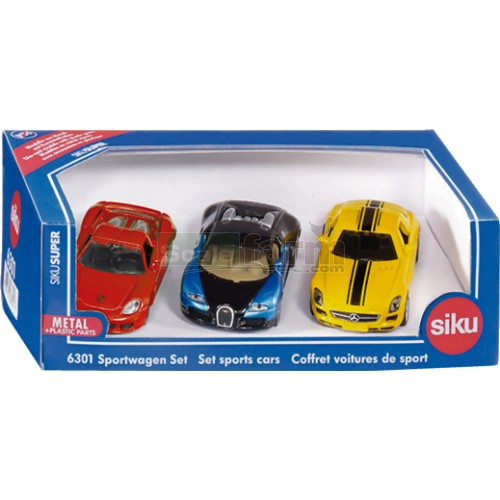 Sports Car Gift Pack (Set of 3) (SIKU 6301)