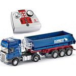 Scania Topline Truck and Tipping Trailer with 2.4GHz Remote Control - Blue - Remote Control Series from SIKU - 1:32 scale  (SIKU 6726/6725)