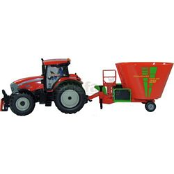 McCormick TTX210 XtraSpeed Tractor with Strautmann Verti-Mix 1250 Fodder Mixer - Farmer Series from SIKU - 1:32 scale (SIKU 8611)