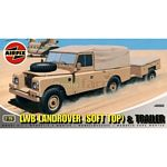LWB Landrover (Soft Top) and Trailer - Airfix Model Kits  (Airfix 02322)