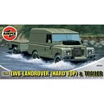 LWB Landrover (Hard Top) and Trailer - Airfix Model Kits  (Airfix 02324)
