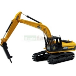 JCB JS220 Excavator with Hammer - Motorart Collectible Models - 1:50 Scale  (Motorart 13723)
