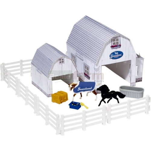 Elvis Collection - Graceland Stables Play Set (Breyer 10317)