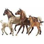 Cloud - Challenge Of The Stallions - Set Of Four Horses - Breyer Classics - 1:12 scale  (Breyer 1391)