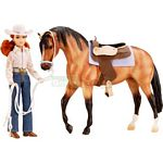 Let's Go Riding Western Set - Breyer Traditional  - 1:9 scale  (Breyer 1410)