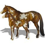 Overo Paint Mare and Foal - Spirit of the Horse - Breyer Traditional - 1:9 scale  (Breyer 1446)