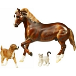 ASPCA Benefit Model - Horse and Animals - Breyer Traditional - 1:9 scale  (Breyer 1459)