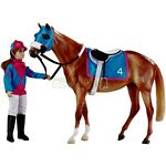 Let's Go Racing Horse and Jockey Set