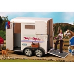 Large Horse Box Trailer - Cream - Breyer Traditional - 1:9 scale  (Breyer 2615)