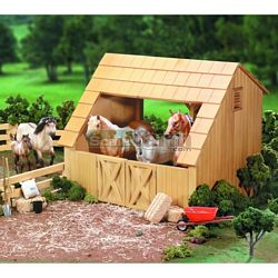 Breyer Run In Wood Barn - Breyer Traditional Accessories - 1:9 scale (Breyer 303)