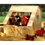 Breyer Wood Stable - Traditional and Classic - Breyer Traditional Accessories - 1:9 scale  (Breyer 306)