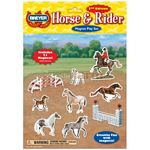 Breyer Horse & Rider Magnet Play Set - 2nd Edition - Breyer Craft & Games  (Breyer 31003)