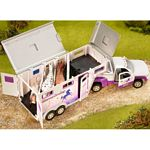 Stablemates Horse Crazy Pick-up Truck and Gooseneck Trailer - Breyer Stablemates - 1:32 scale  (Breyer 5369)