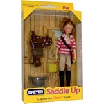 Eva,  Saddle Up! Figure and Accessories - Breyer Classics - 1:12 scale  (Breyer 61045)