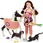 Pet Sitter Set - Figure and Horse - Breyer Classics - 1:12 scale  (Breyer 61047)