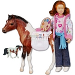 Breyer Art Class Set - Horse and Figure - Breyer Classics - 1:12 scale  (Breyer 61049)