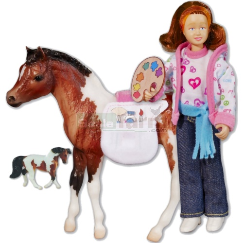 Breyer Art Class Set - Horse and Figure (Breyer 61049)