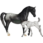 Black Blanket Appaloosa and Leopard Appaloosa Foal - Breyer Classics - 1:12 scale  (Breyer 62032)