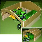 Basics Wooden Single Bay Shed - Brushwood Toys - 1:32 Scale  (Brushwood BB9000)