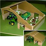 Basics Wooden Two Bay Shed - Brushwood Toys - 1:32 Scale  (Brushwood BB9100)