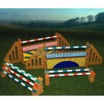 Show Jump And Training Block Set - Brushwood Toys - 1:12 Scale  (Brushwood BT1020)