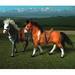 Two Horse Set - Brushwood Toys - 1:12 Scale  (Brushwood BT1050)