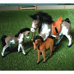 One Horse and Two Foal Set - Brushwood Toys - 1:12 Scale  (Brushwood BT1060)