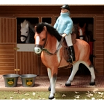 Horse And Rider Set - Brushwood Toys - 1:12 Scale  (Brushwood BT1090)