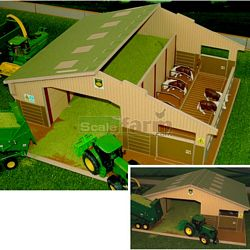 Wooden 3 Bay Multi Purpose Shed - Brushwood Toys - 1:32 Scale (Brushwood BT4000)