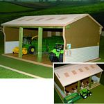 Wooden Tractor & Implements Shed - Brushwood Toys - 1:32 Scale  (Brushwood BT5000)