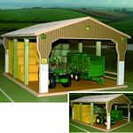Wooden Big Bale Shed - Brushwood Toys - 1:32 Scale  (Brushwood BT6000)